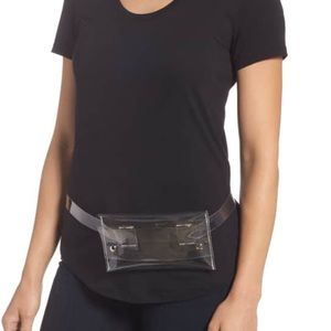Plaid translucent belt bag from LF